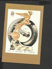 Nostalgia Postcard  Art Deco Statuette Dunlop Tyres Advertisement 1931
