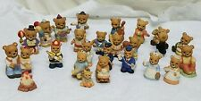 "Home Interior Homco"" 24 Different Bears"" Ceramic Figurines"