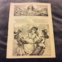 Antique Book Print - Ring A Ring O' Roses - 1889