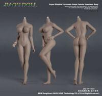 JIAOU DOLL 1/6 European Big Bust Skeleton Suntan Female Figure Body Model Dolls