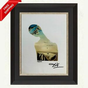 Salvador Dali - Couple with Clouds in Their,Original Hand Signed Print with COA