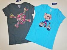 NWT Old Navy Dog on Scooter Skull of Hearts Gray Novelty Tee Lot of 2 L 10/12