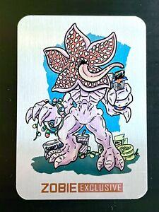 Zobie Exclusive Fan Art Metal Trading Card - Pop Culture Box - Stranger Things
