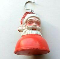 Santa Hanging Light Vintage Christmas Decoration Home Decor Shelf Sitter Plastic