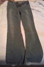 Women's Jeans Size 5 Long Flare Light Denim Acid Washed Low Rise