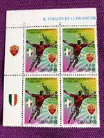 ITALIA 2001  QUARTINA ROMA CAMPIONE D'ITALIA ANGOLO DI BORDO SINISTRO NUOVI