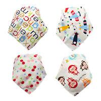 4pcs Adjustable Baby Saliva Towel Bandana Bibs Triangle Kids Head Scarf