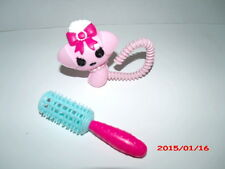 Lalaloopsy REPLACEMENT PINK PET DOG & BRUSH for Silly Hair Suzette La Sweet Doll