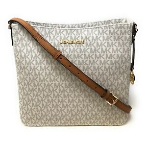New Michael Kors Jet Set Travel Large Messenger Leather Crossbody Bag Handbag