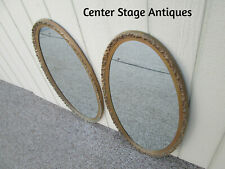 59013 Pair Gold Decorator Oval Mirrors