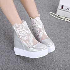 Womens Ankle Boot Sandal Summer Hidden Wedge Mesh Pumps Spring Sneaker New Shoes