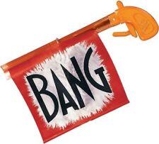 Orange Bang Gun With Flag - Halloween Prop Magic Toy Red Pistol Joke Funny Gag