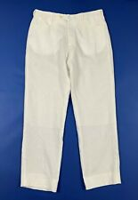 Conbipel niama man pantalone uomo usato W38 tg 52 lino bianco estivo panta T6396