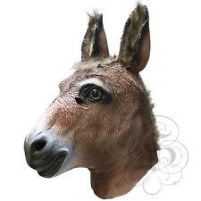 Máscara De Látex Fiesta De Cabeza De Burro realista-fotografía Accesorios de Halloween Hen Stag