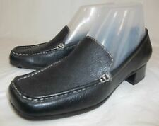 ETIENNE AIGNER Wos Shoes US 6.5 Black Leather Slip On low Heel Loafers work 5248