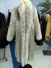 BRAND NEW NATURAL MONTANA LYNX FUR COAT WOMEN WOMAN
