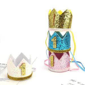 First Birthday Hat Party Hat Glitter Birthday DIY Decor Priness Crown Number _yk
