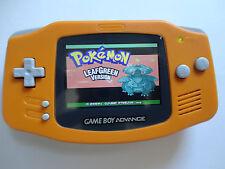 Backlit Nintendo GBA Game boy Advance Custom Backlight - orange ags 101 brighte