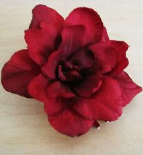 """2.5"""" Red Apple Blossom Silk Flower Hair Clip,Luau,Wedding, Dance, Prom,Bridal"""