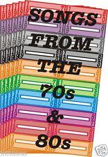 100 BLANK JUKE BOX TITLE STRIPS LABEL 29IB LIGHTWEIGHT (70s & 80s THEME) FOR 45s