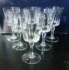 Série de 6 verres à vin en Cristal taillé