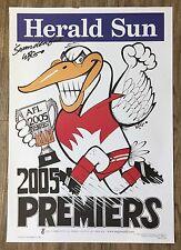 """Swanderful"" 2005 Sydney Swans WEG Premiership Poster Signed By WEG"