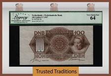 TT PK 82 1947 NETHERLANDS NEDERLANDSCHE BANK 100 GULDEN LCG 64 VERY CHOICE NEW!