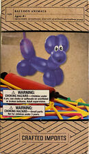 Crafted Imports-DIY Balloon Animals Craft Kit-24 Colorful Balloons-Pump-Stickers