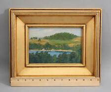Antique WILL HUTCHINS American Impressionist River Landscape Oil Painting, NR
