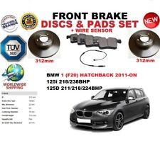 PER BMW 125 F20 HATCHBACK 2011- 312mm SET DISCHI FRENI ANTERIORI + KIT