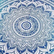 "Round Tablecloth Size 70"" Diameter Patio Mandala Picnic Beach Throw Yoga Mandala"