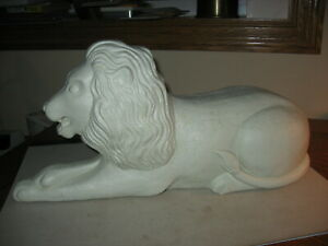 Scarce Laying Lion Blow Mold Yard Decoration