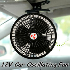 Portable 12V Oscillating Car Truck Cooler Fan With Clip Switch Outdoor Travel AU