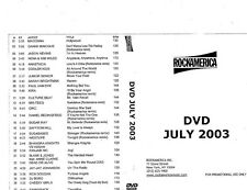 RockAmerica Videopool July 2003- ETV DVD
