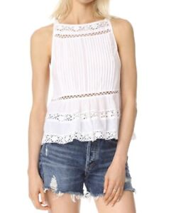 Free People Constant Crush White Lace Top Size L BNWT RRP £60