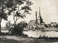 Azé Mayenne Château-Gontier Pays de la Loire estampe 1872 graveur A. Tancrède
