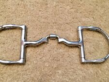"""Square Ported 5"""" English Myler Bit MB41. With Hooks"""