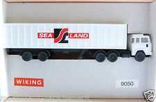"Wiking 9050 Spur N Magirus Container-Sattelzug Sealand in OVP ""IJ3598"""