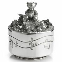 Royal Selangor Teddy Bear's Picnic Collection Pewter Friends Musical Carousel