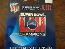 Patriots Super Bowl LIII Champs Pin 53 NFL New England Champions 2019