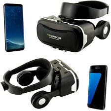 3D Brille VR Headset Virtual Reality für Samsung Galaxy S5 Mini S6 S7 Edge S8 +