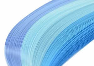 125 quilling paper strips in shades of blue 3mm and 5mm wide 125gsm