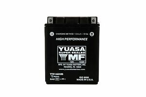 Batterie YUASA YTX14AH-BS lung.134 larg.89 alt.166 MM