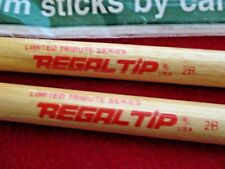 KISS, CRAZY NIGHTS, ERIC CARR, RED REGAL Logo 1986  Style Signature Drumsticks