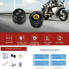 TPMS Motorcycle Tire Pressure Monitoring Alarm 2 External Sensors Bluetooth 4.0