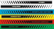 2x Side Stripe Motorsport - STICKER RACING STRIP WITH YOUR TEXT
