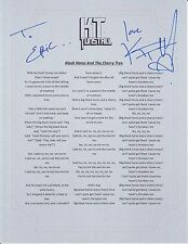 KT TUNSTALL SIGNED BLACK HORSE AND THE CHERRY TREE TO ERIC LYRIC SHEET