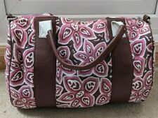 Canvas Overnight Tote Holdall Weekend Bag Floral Hand Luggage Carry On Cabin