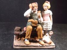 "Norman Rockwell 1979 The Cobbler Figurine w/ Orig Box & Certificate 5 1/4"""