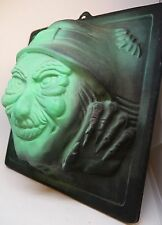 WITCH Vintage Black Light Wall Sculpture Halloween Decoration Haunted House